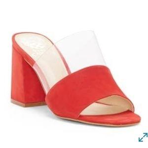 Vince Camuto Nechesta slide sandal red size 7.5